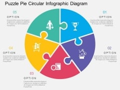 Puzzle Pie Circular Infographic Diagram Powerpoint Templates