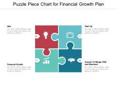 Puzzle Piece Chart For Financial Growth Plan Ppt PowerPoint Presentation Summary Infographic Template PDF