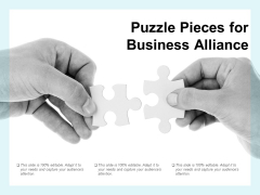 Puzzle Pieces For Business Alliance Ppt PowerPoint Presentation Infographic Template Format Ideas