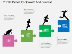 Puzzle Pieces For Growth And Success Powerpoint Templates