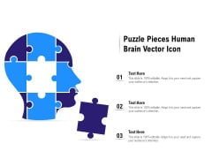 Puzzle Pieces Human Brain Vector Icon Ppt PowerPoint Presentation Icon Portfolio