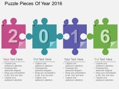 Puzzle Pieces Of Year 2016 Powerpoint Template