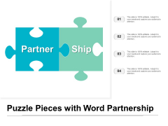 Puzzle Pieces With Word Partnership Ppt PowerPoint Presentation Infographic Template Styles