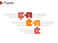 Puzzle Ppt PowerPoint Presentation Layouts Professional