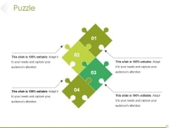 Puzzle Ppt PowerPoint Presentation Show Diagrams