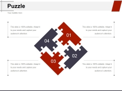 Puzzle Ppt PowerPoint Presentation Show Inspiration
