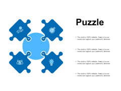 Puzzle Problem Solution Ppt PowerPoint Presentation Portfolio Inspiration