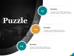 Puzzle Problem Solve Ppt PowerPoint Presentation Show Guide