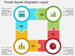Puzzle Square Infographic Layout Powerpoint Templates