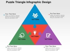 Puzzle Triangle Infographic Design Powerpoint Templates