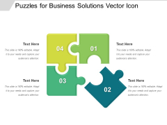 Puzzles For Business Solutions Vector Icon Ppt PowerPoint Presentation Sample PDF