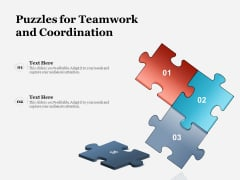 Puzzles For Teamwork And Coordination Ppt PowerPoint Presentation File Show PDF