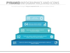 Pyramid Chart With Business Icons Powerpoint Slides