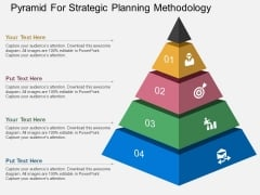 Pyramid For Strategic Planning Methodology Powerpoint Template