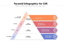 Pyramid Infographics For CSR Ppt PowerPoint Presentation File Clipart PDF
