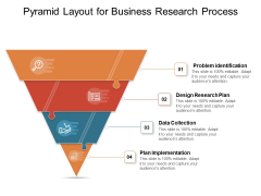 Pyramid Layout For Business Research Process Ppt PowerPoint Presentation File Display PDF