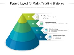 Pyramid Layout For Market Targeting Strategies Ppt PowerPoint Presentation Show Templates PDF