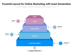 Pyramid Layout For Online Marketing With Lead Generation Ppt PowerPoint Presentation Gallery Outfit PDF