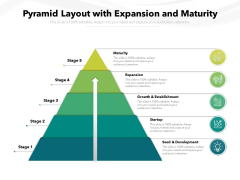 Pyramid Layout With Expansion And Maturity Ppt PowerPoint Presentation File Clipart PDF