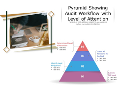 Pyramid Showing Audit Workflow With Level Of Attention Ppt PowerPoint Presentation Portfolio Elements PDF