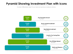 Pyramid Showing Investment Plan With Icons Ppt PowerPoint Presentation Icon Slides PDF