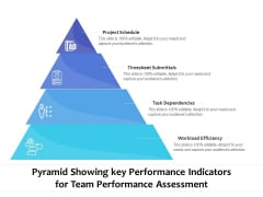 Pyramid Showing Key Performance Indicators For Team Performance Assessment Ppt PowerPoint Presentation Gallery Icons PDF