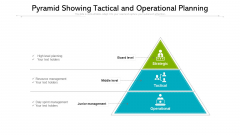 Pyramid Showing Tactical And Operational Planning Ppt PowerPoint Presentation Portfolio Samples PDF