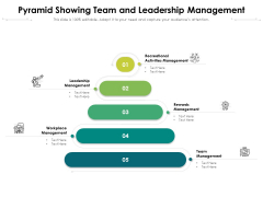 Pyramid Showing Team And Leadership Management Ppt PowerPoint Presentation File Infographics PDF