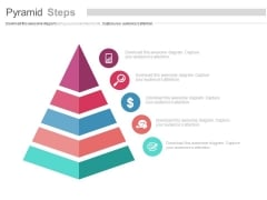 Pyramid Steps With Sales Planning Icons Powerpoint Template