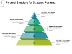 Pyramid Structure For Strategic Planning Ppt PowerPoint Presentation File Slides