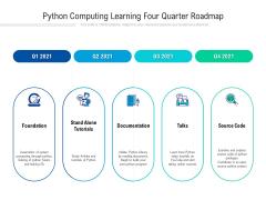 Python Computing Learning Four Quarter Roadmap Professional