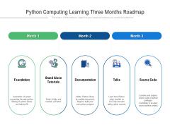 Python Computing Learning Three Months Roadmap Sample