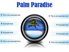 Palm Paradise Beach PowerPoint Presentation Slides Cc