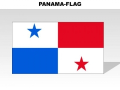 Panama Country PowerPoint Flags