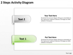 Parallel And Distributed Processing 2 Steps Activuty Diagram Ppt PowerPoint Templates