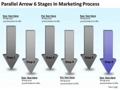 Parallel And Distributed Processing Arrow 6 Stages Marketing Ppt PowerPoint Slides