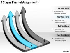 Parallel And Serial Processing 4 Stages Assignments PowerPoint Slides