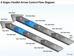 Parallel Arrow Control Flow Diagram Business Plan Template For Restaurant PowerPoint Slides