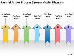 Parallel Arrow Process System Model Diagram Agricultural Business Plan PowerPoint Templates