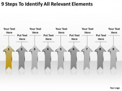 Parallel Arrows PowerPoint 9 Steps To Identify Relevant Elements Templates