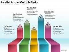 Parallel Arrows PowerPoint Multiple Tasks Slides