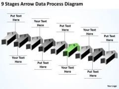 Parallel Data Processing 9 Stages Arrow Diagram PowerPoint Slides