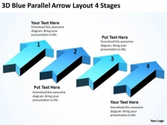 Parallel Data Processing Arrow Layout 4 Stages PowerPoint Templates Ppt Backgrounds For Slides