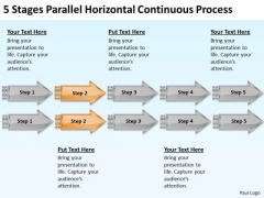 Parallel Horizontal Continuous Process Sample Plan For Business PowerPoint Templates