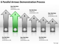 Parallel Process 6 Arrows Demonstration Ppt PowerPoint Template