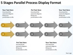 Parallel Process Display Format Restaurant Business Plan Template Free PowerPoint Templates