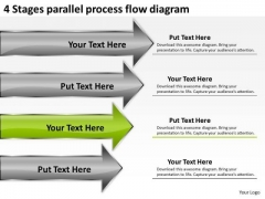 Parallel Process Flow Diagram Business Plan Executive Summary Template PowerPoint Templates