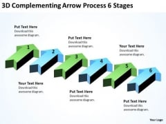 Parallel Processing Application 3d Complementing Arrow 6 Stages PowerPoint Templates