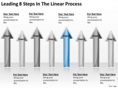 Parallel Processing Applications Leading 8 Steps Linear PowerPoint Templates