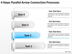 Parallel Processing Applications Steps Arrow Connection Processes PowerPoint Slides